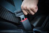 Hand fastening seat belt