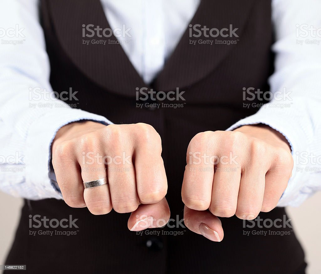 Hand Fists royalty-free stock photo