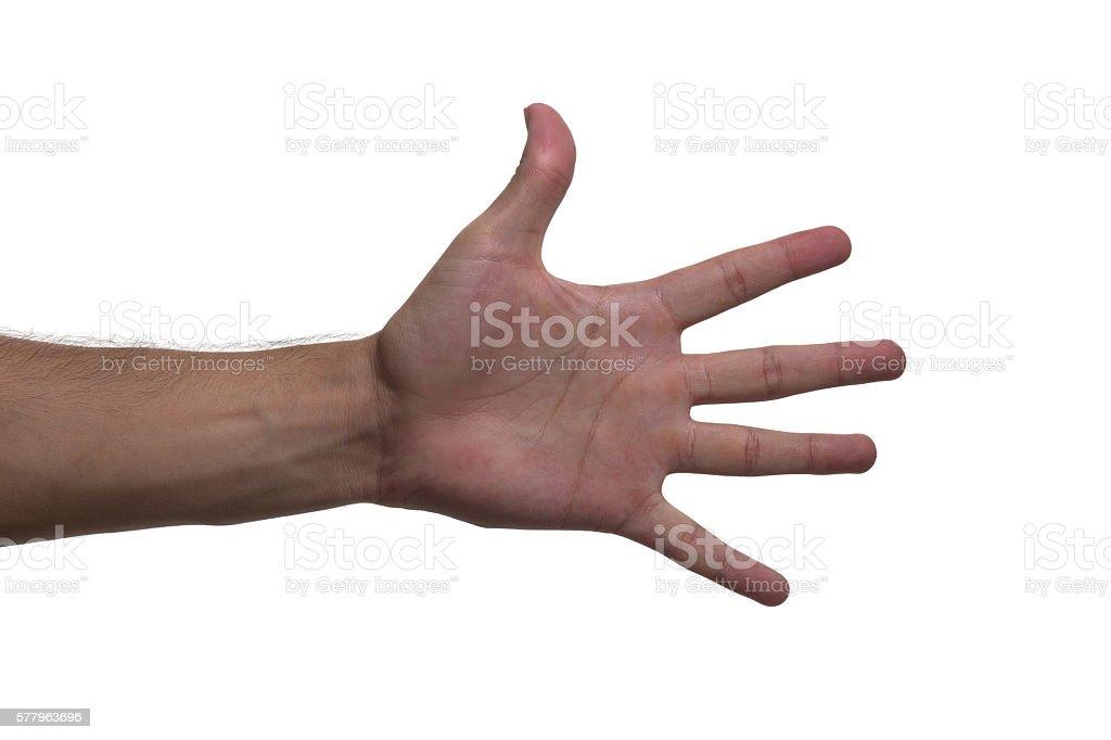 hand five stock photo