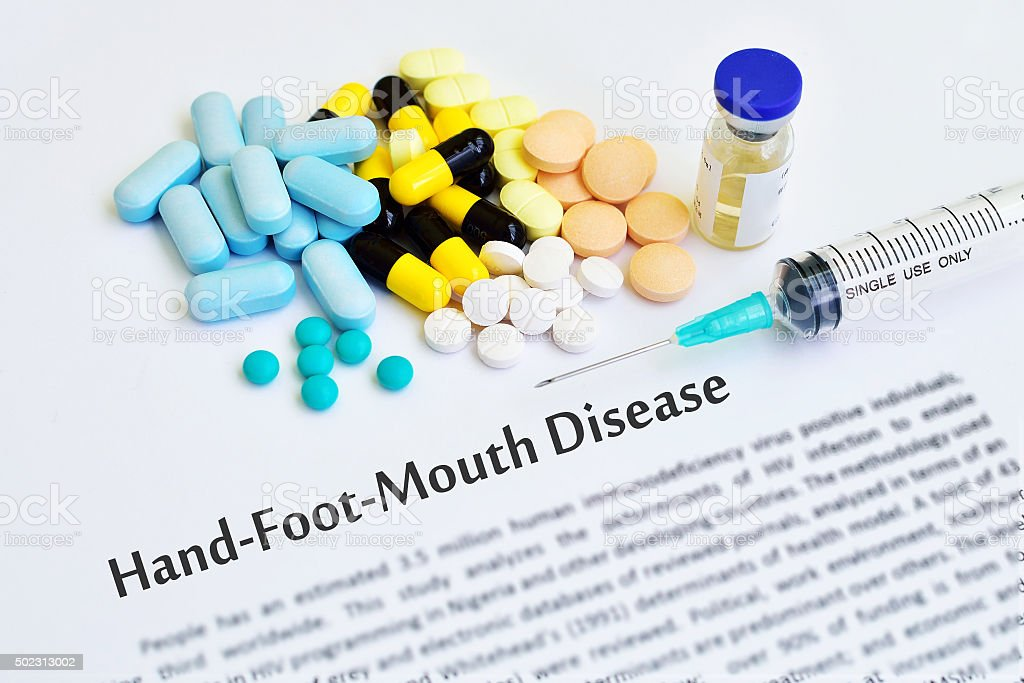 Hand Foot and Mouth disease stock photo