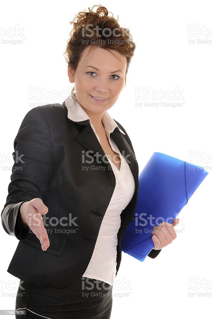 Hand for agreement royalty-free stock photo