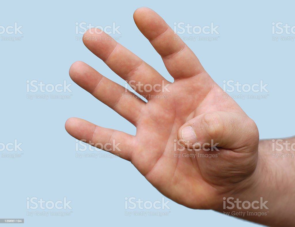 hand : four stock photo