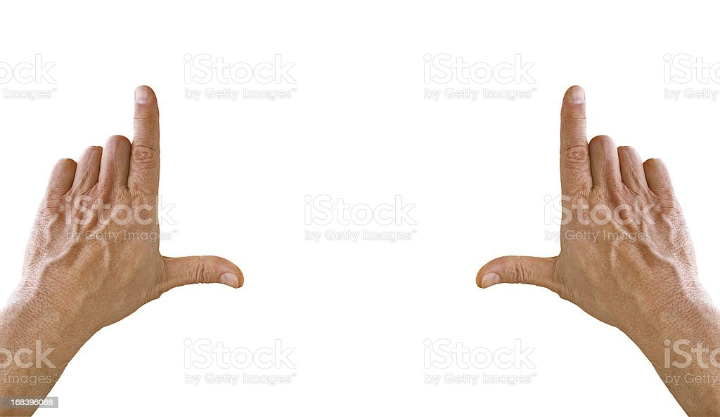 hand frame stock photo