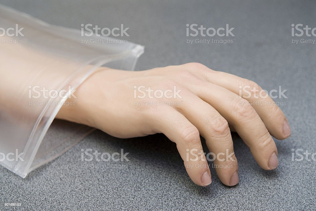 Hand from plastic royalty-free stock photo