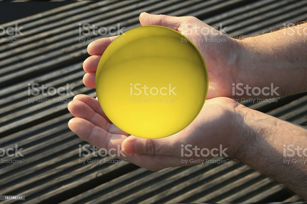 hand full of gold royalty-free stock photo