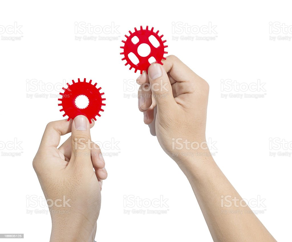 Hand gear royalty-free stock photo