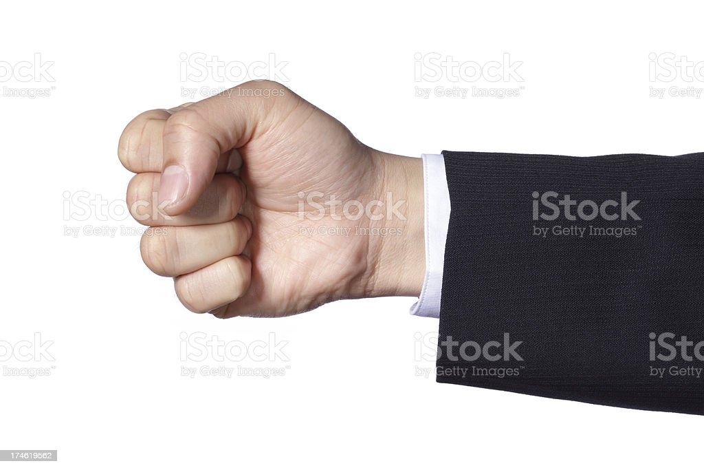 Hand Gesture - Fist royalty-free stock photo