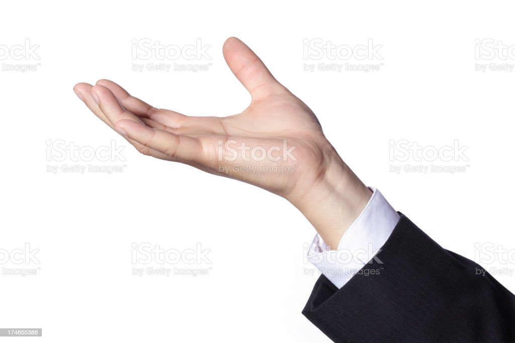 Hand Gesture - Holding royalty-free stock photo