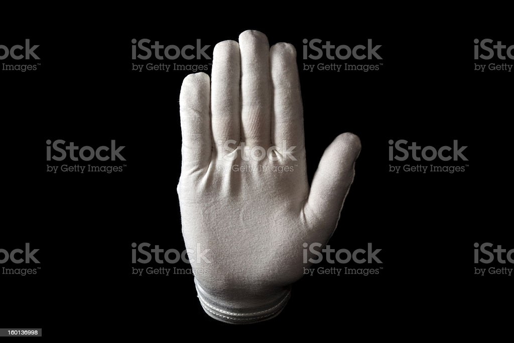 Hand gesture royalty-free stock photo