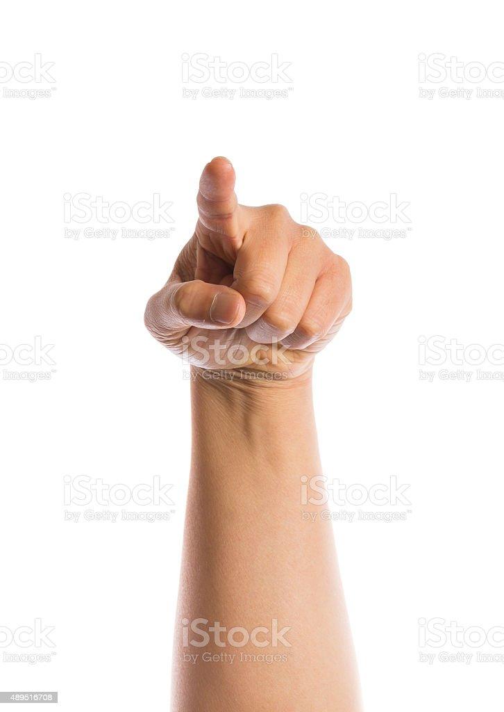 hand gesture stock photo