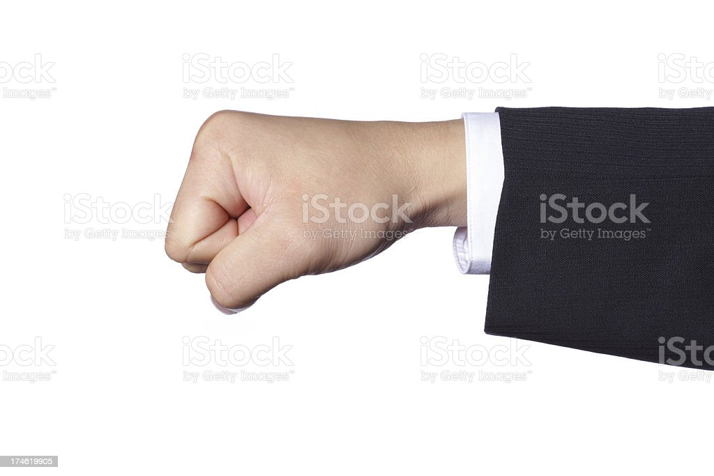Hand Gesture - Punching royalty-free stock photo