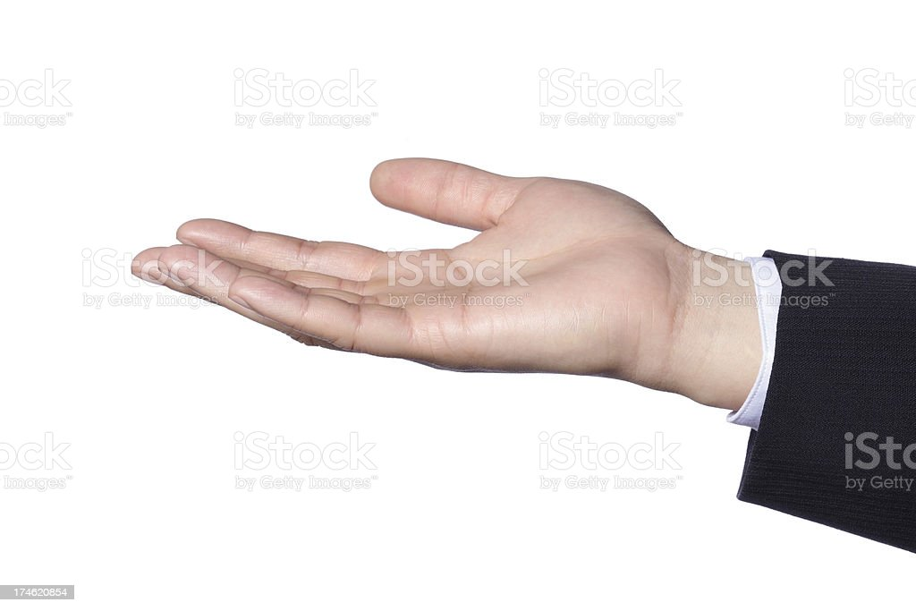 Hand Gesture - Receiving royalty-free stock photo