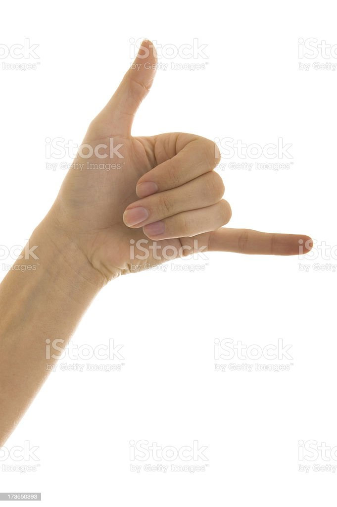 Hand gesture series royalty-free stock photo