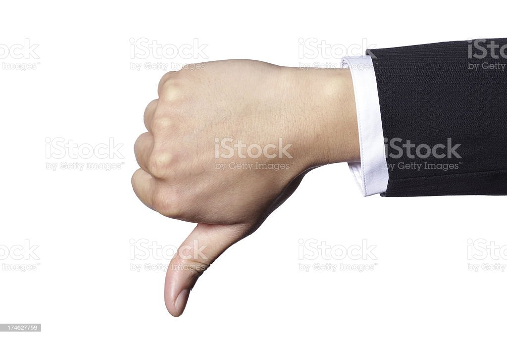 Hand Gesture - Thumb Down royalty-free stock photo
