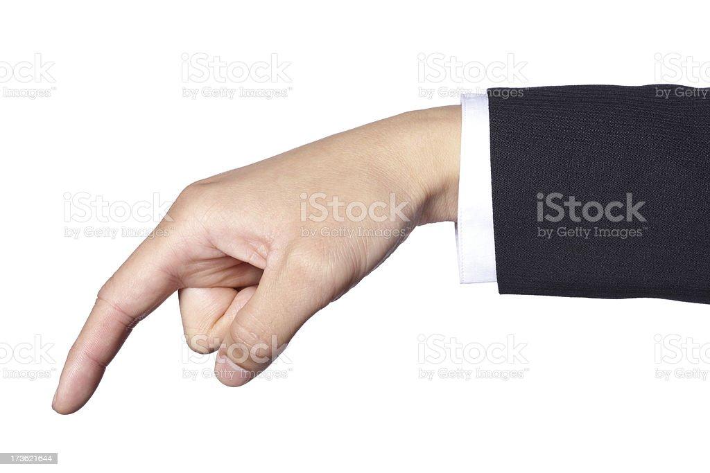 Hand Gesture - Touching stock photo