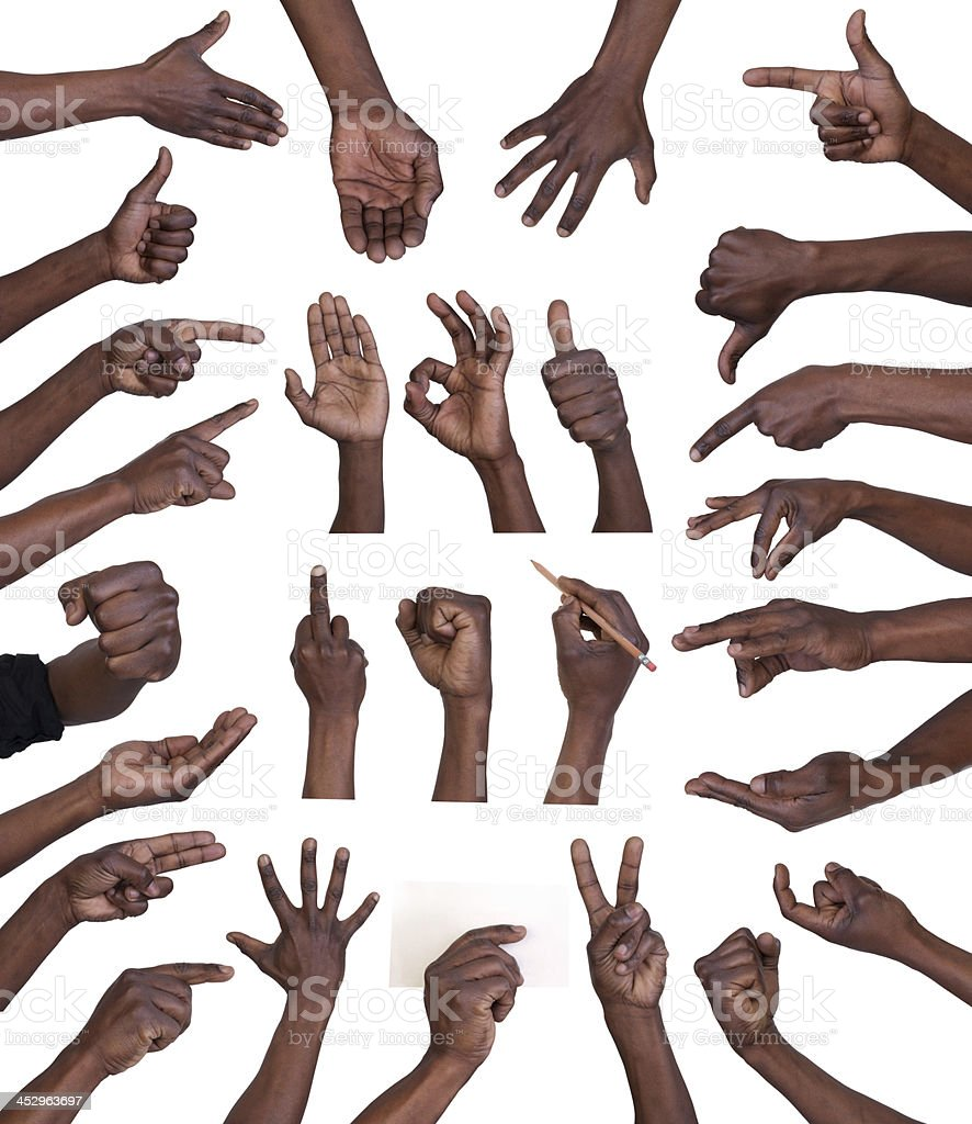Hand gestures collection stock photo