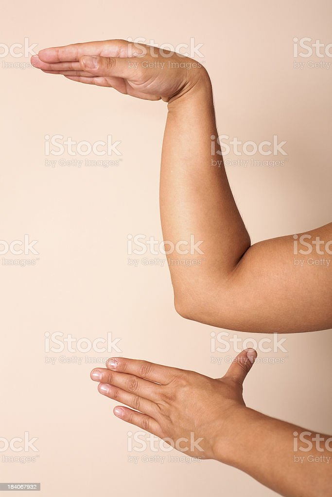 Hand gestures in Amma Chinese Massage Therapy stock photo