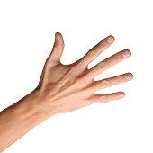 Hand gestures on white background