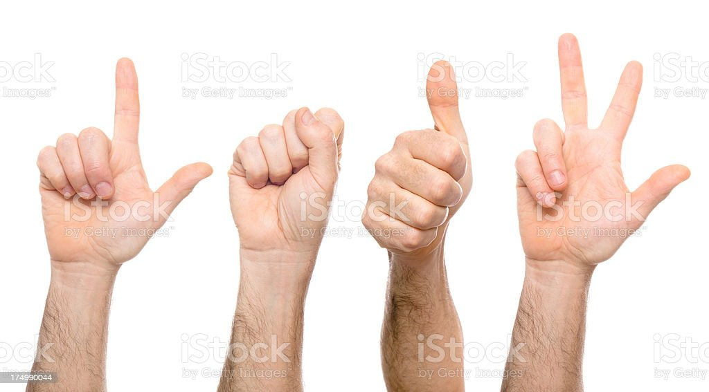 2013 - Hand gesturing royalty-free stock photo