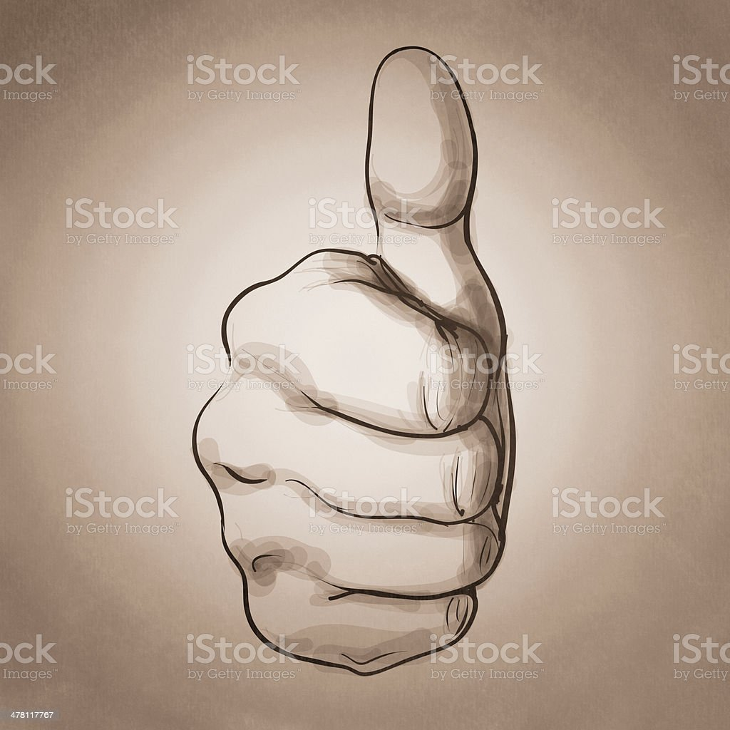 hand giving a thumbs up royalty-free stock photo