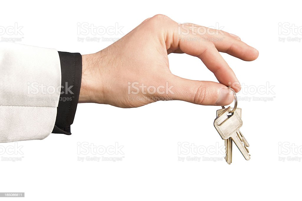 Hand giving keys royalty-free stock photo