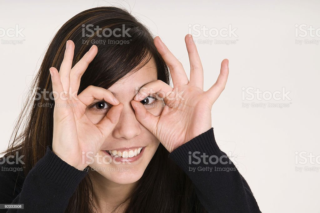 hand glasses royalty-free stock photo