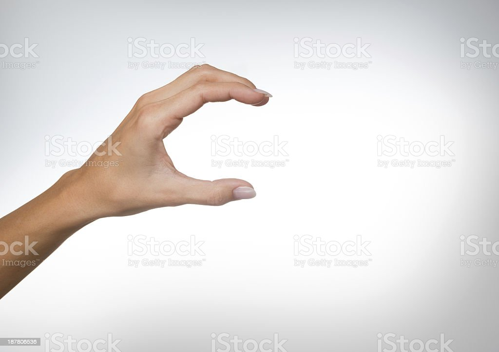 Hand Grabbing Holding Copy Space stock photo