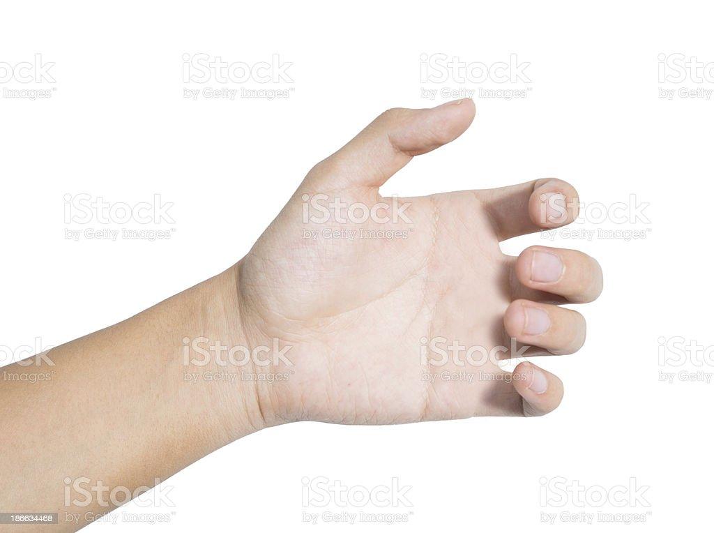Hand grasp stock photo