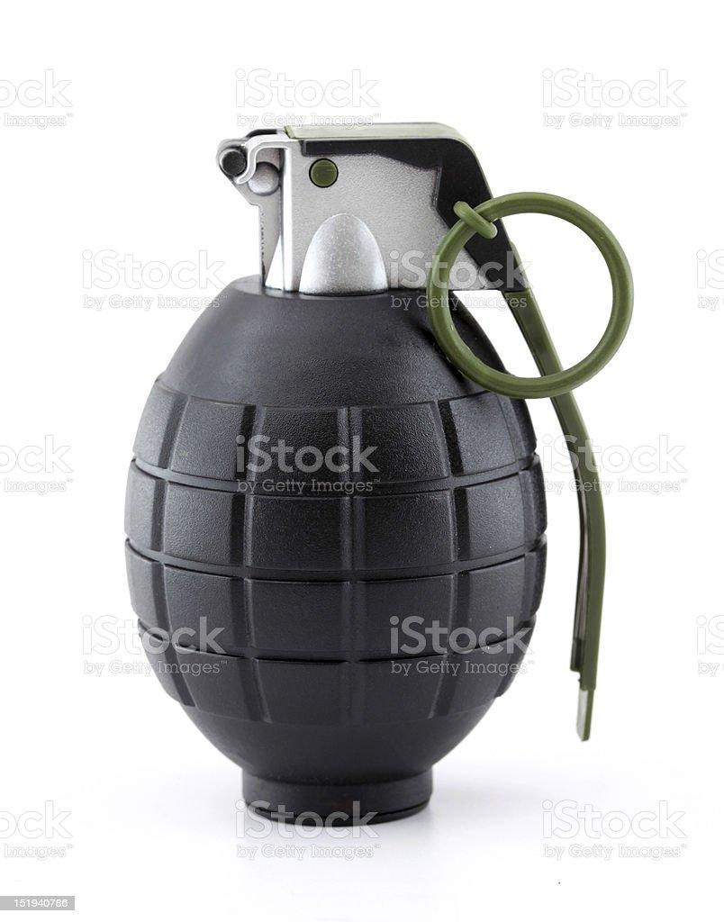 Hand grenade black and gray stock photo
