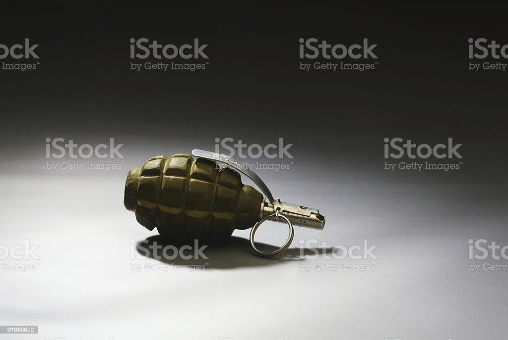Hand grenade khaki stock photo