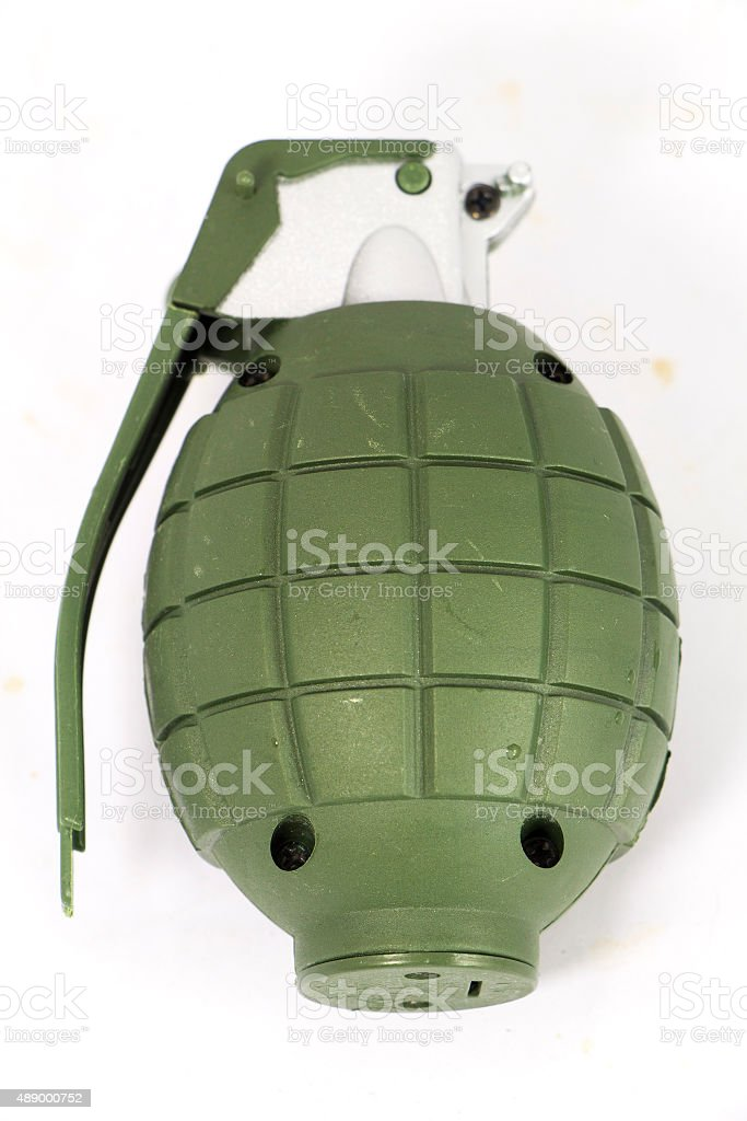 Hand Grenades isolated on white with clipping path stock photo