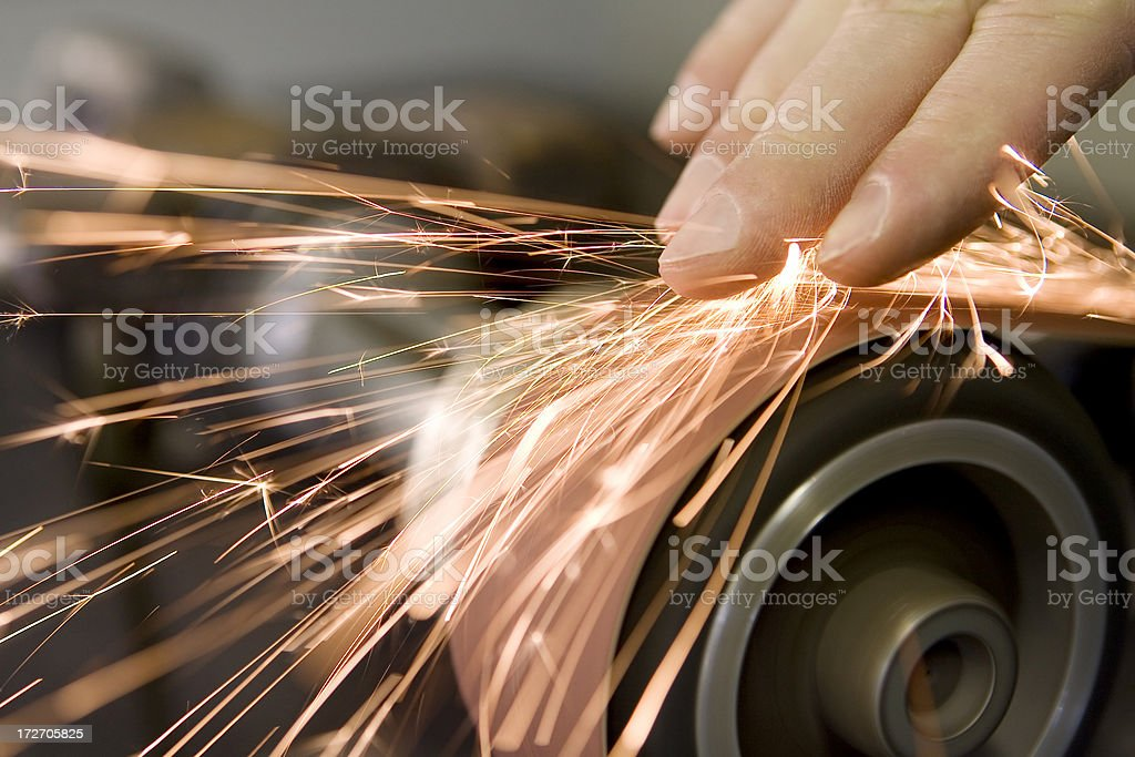 Hand Grind royalty-free stock photo