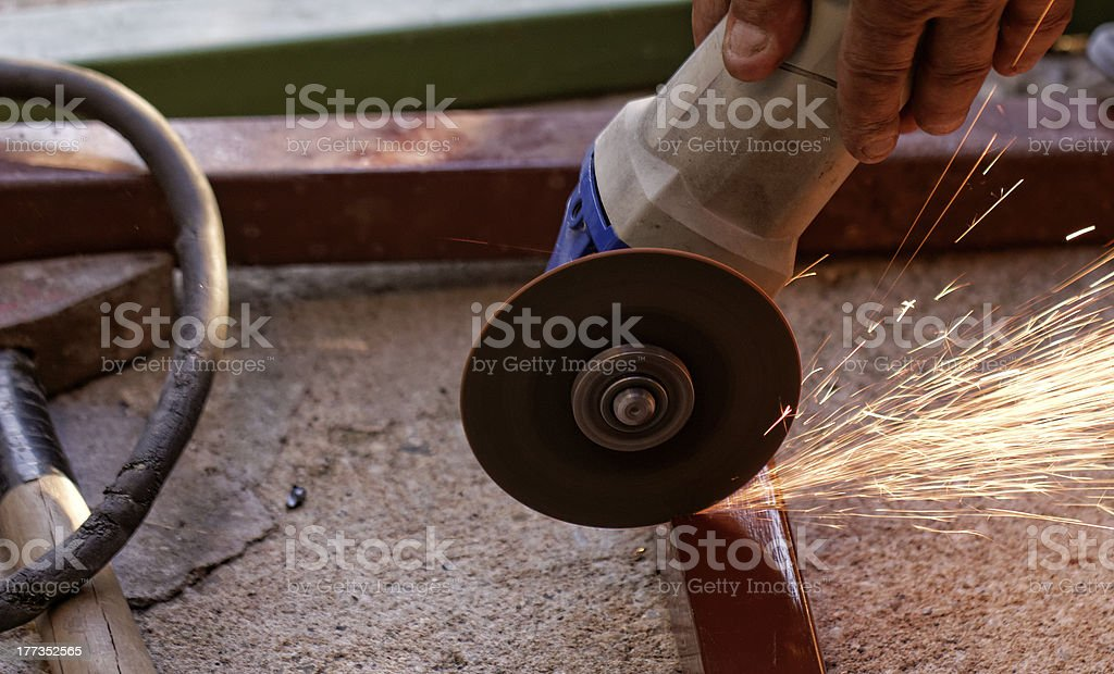 hand grinder saw the steel royalty-free stock photo