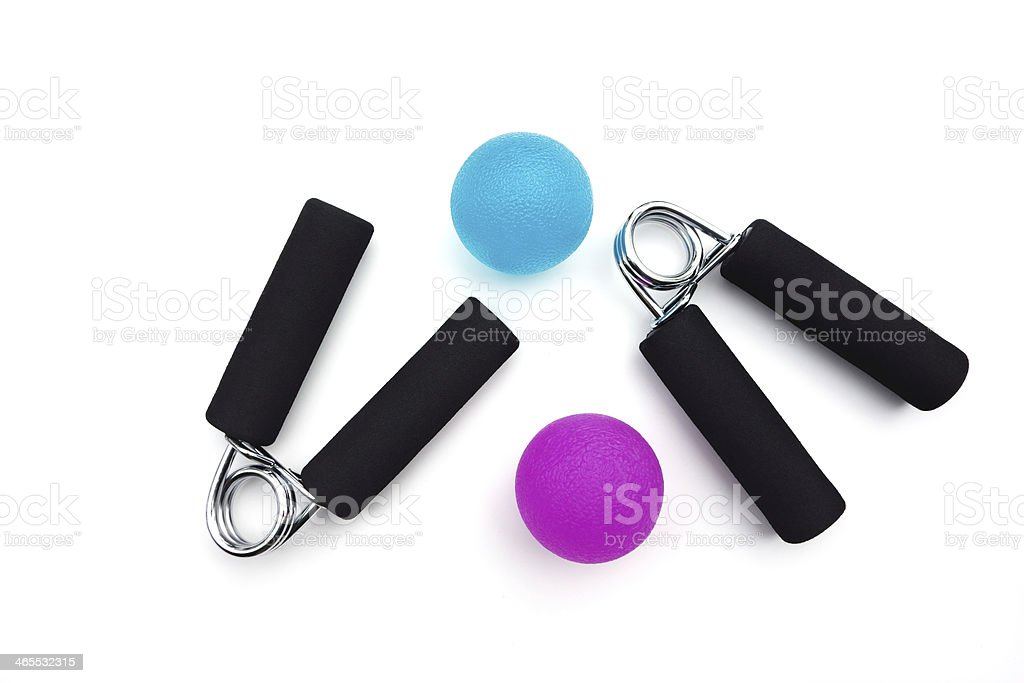 Hand grips and squeeze balls stock photo