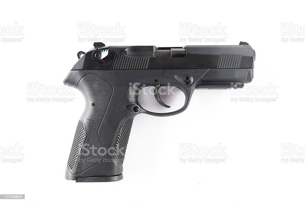 Hand Gun .45 caliber stock photo