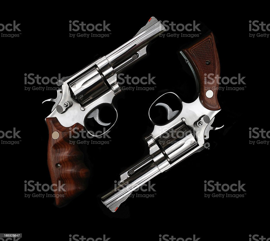 hand gun group royalty-free stock photo