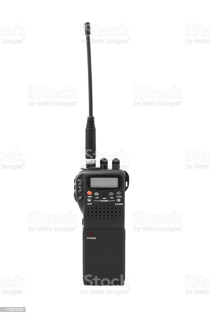 Hand held CB radio stock photo