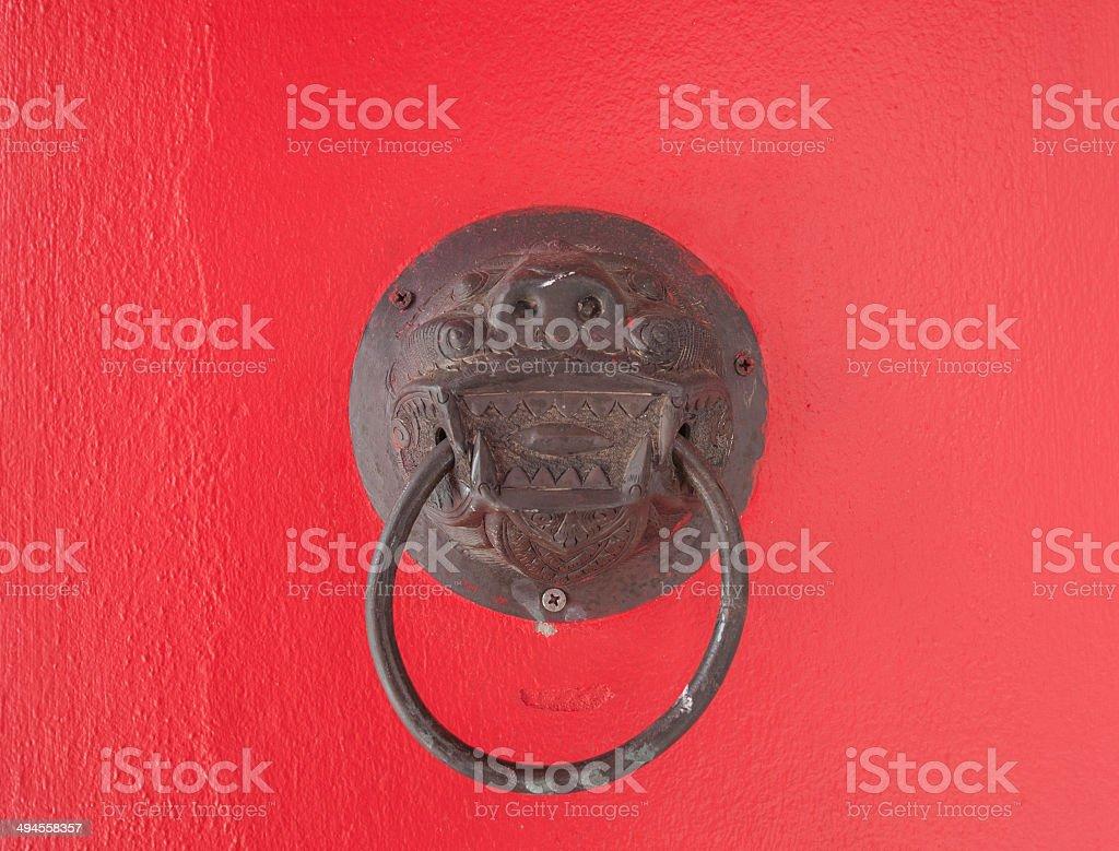 hand held door knocker stock photo