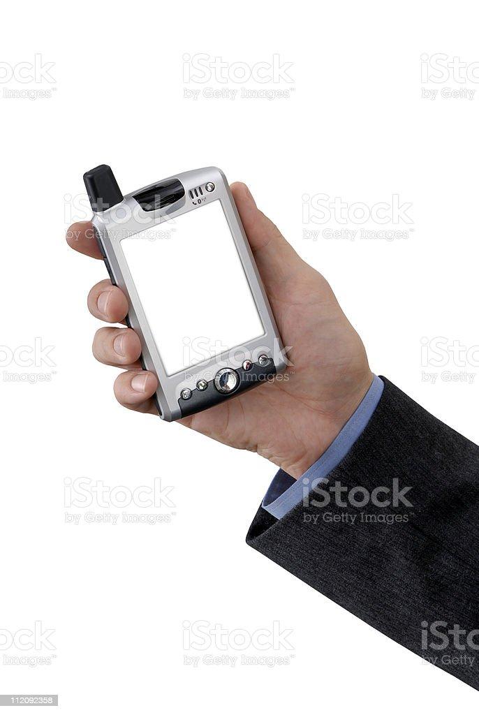 Hand Held PDA royalty-free stock photo
