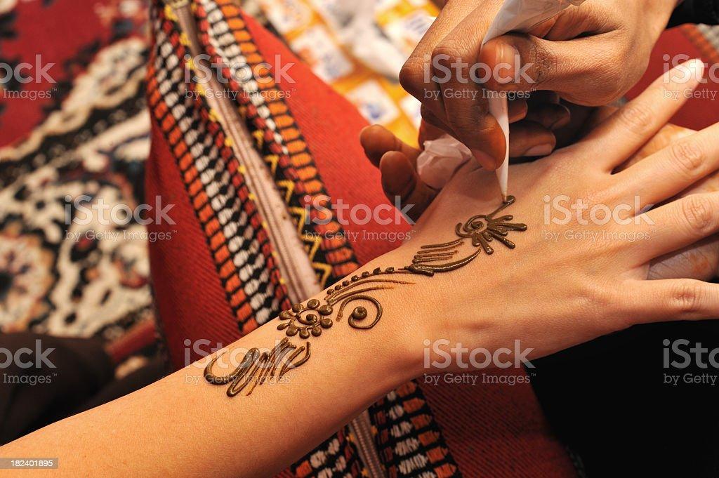 hand henna stock photo