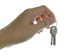 Hand hold house keys