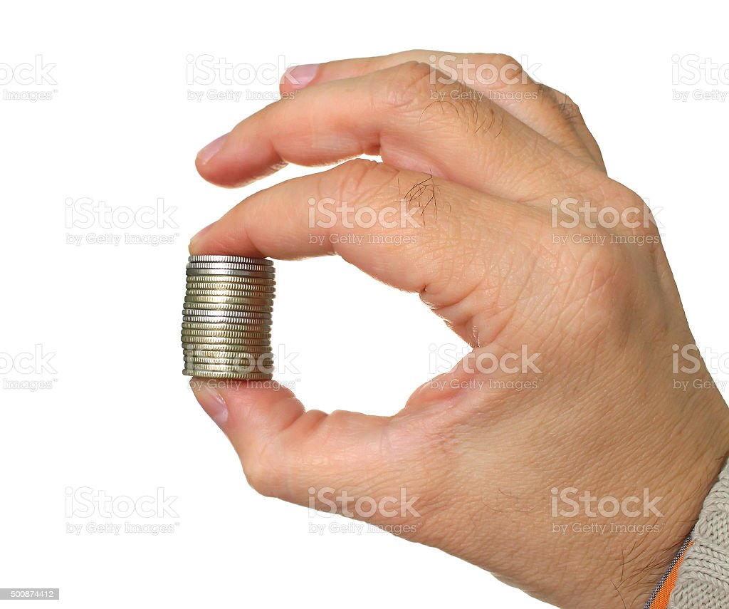 Hand hold money stock photo