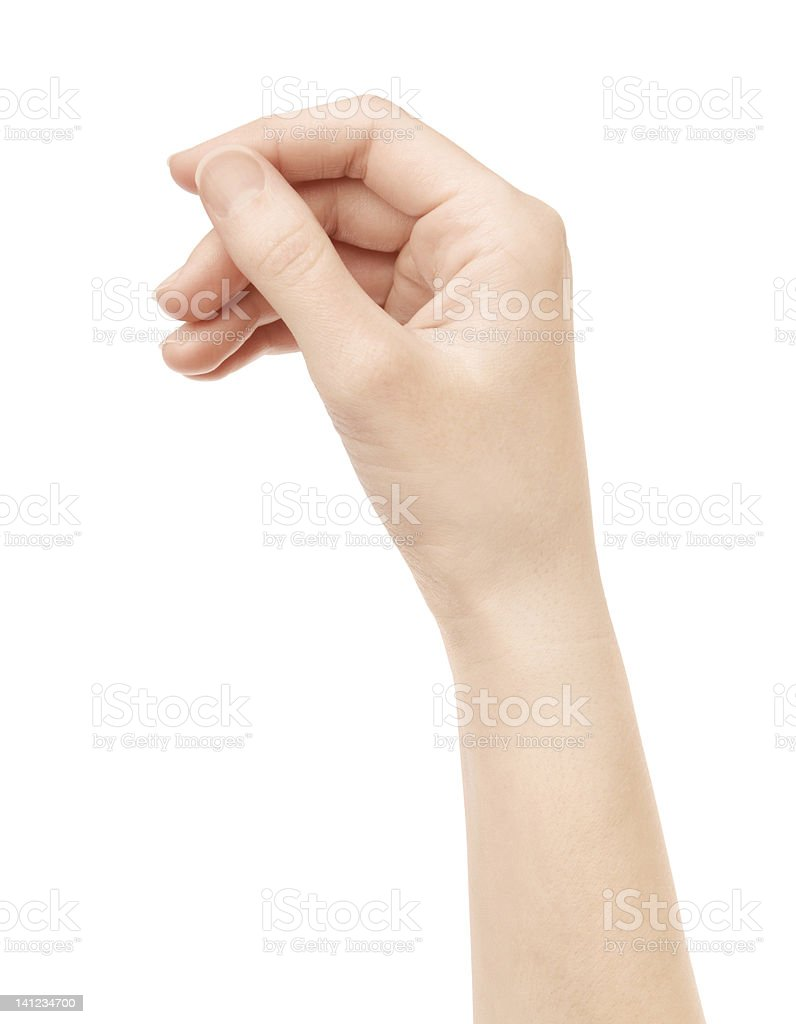 Hand Hold Virtual Card Isolated stock photo