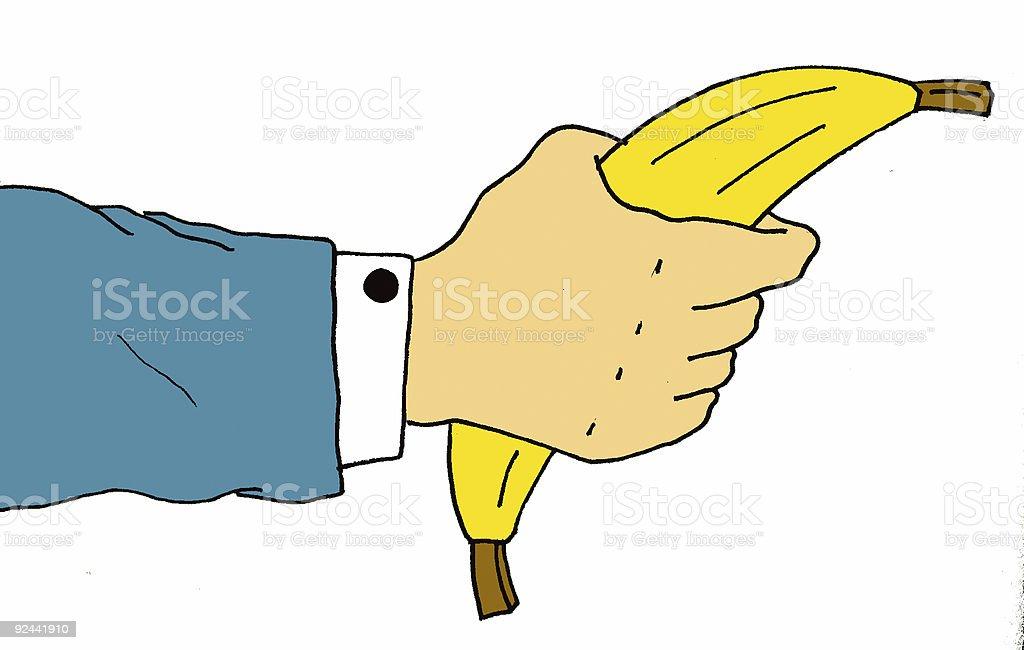 hand holding a ... banana stock photo