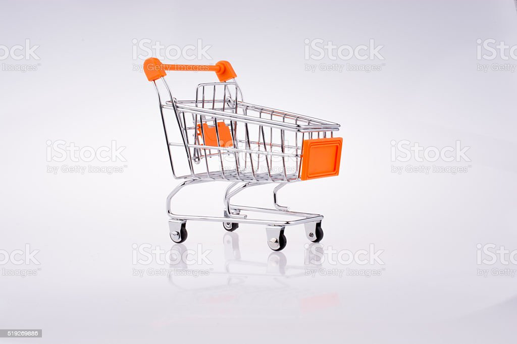 Hand holding a Cart stock photo