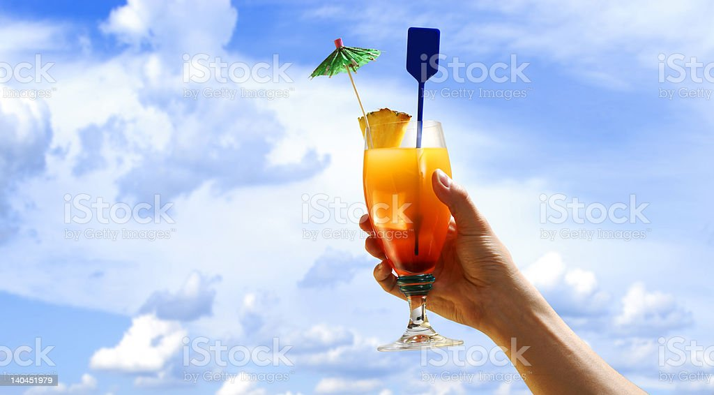 hand holding a drink royalty-free stock photo
