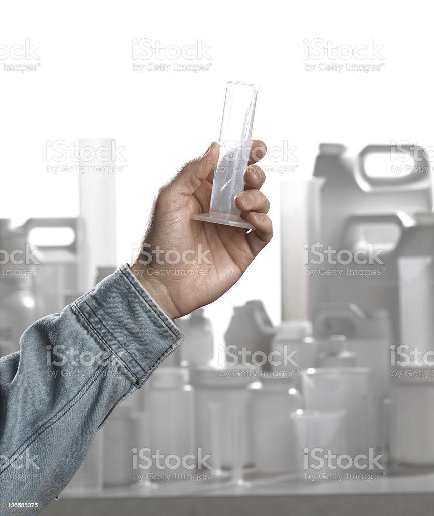 Hand Holding A Graduate stock photo