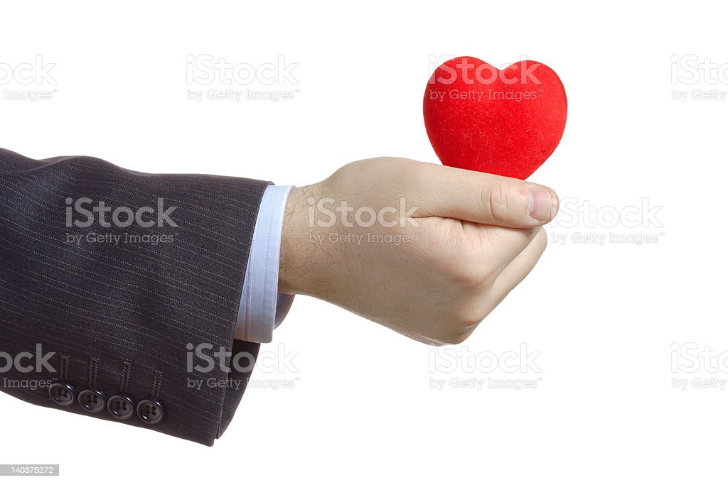 Hand holding a heart royalty-free stock photo