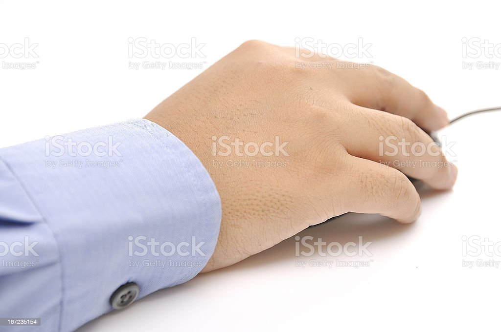 Hand Holding A Mouse royalty-free stock photo