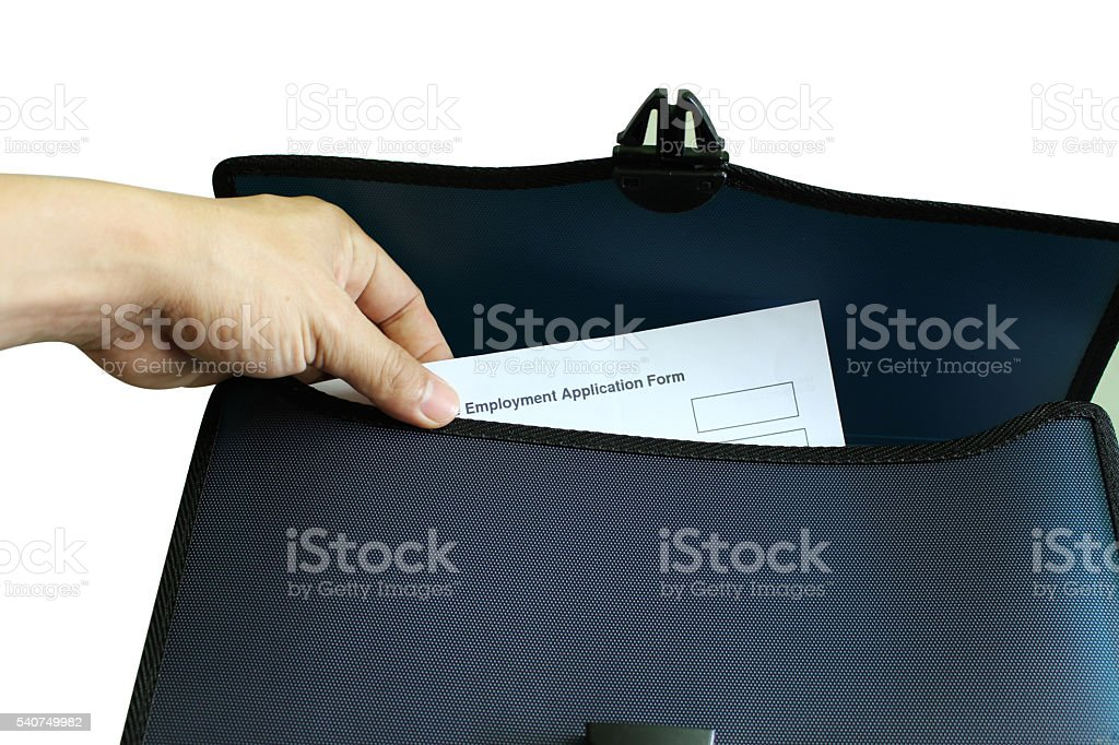 hand holding Application Form stock photo